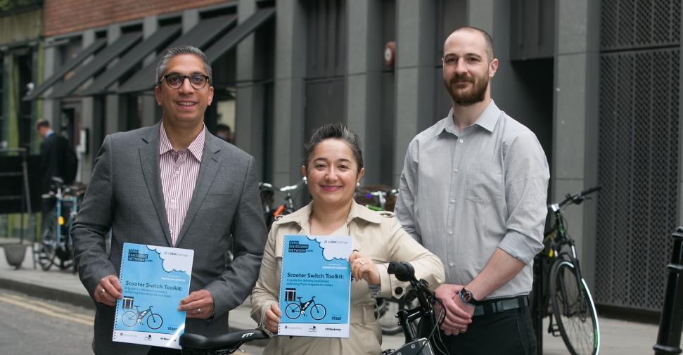 Deputy Mayor Feryal Demirci and Bagged2u with electric bike