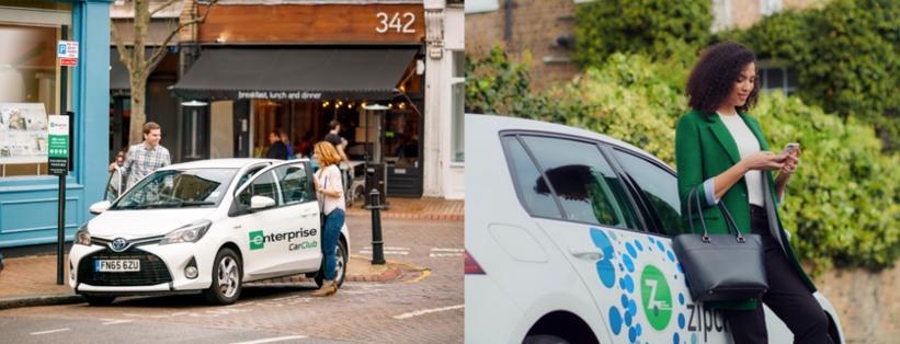 Car clubs enterprise and Zipcar
